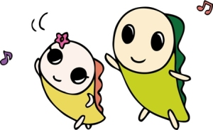 우리동네에서는 후낫시 부럽지 않은 인기를 자랑하는 스기나미의 마스코트 '나미스케'와 여동생